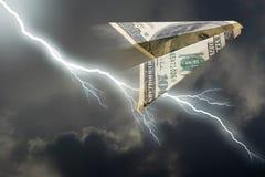 плоскость доллара стоковые фотографии rf