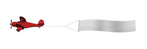 плоскость знамени пустая Стоковая Фотография RF