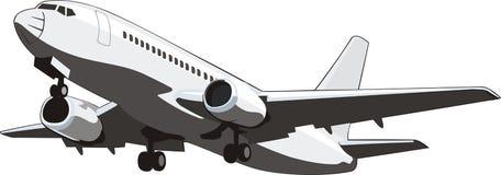 плоскость летного пассажира иллюстрация штока