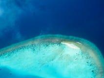 плоскость Мальдивов Стоковое Изображение