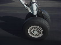 плоскость посадки Стоковая Фотография
