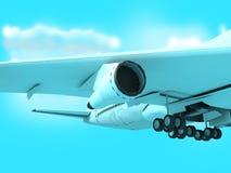 плоскость passanger двигателя Боинга Стоковая Фотография RF