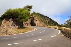 Плотная кривая в горах стоковые изображения