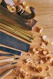Плотничество оборудует концепцию стоковые изображения