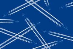 плотное движение воздушных судн стоковое изображение
