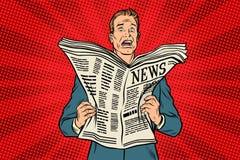 Плохая новость в газете иллюстрация вектора