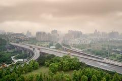 плохая погода городского пейзажа Стоковое Изображение RF