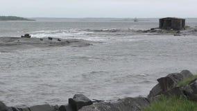 Плохая погода на море видеоматериал