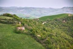 Плохая погода на сельскохозяйственне угодье Италии Стоковые Фото