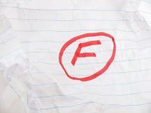 Плохая ранг школы стоковое изображение