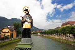 плохая статуя jesus ischl Стоковое фото RF