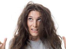 плохие волосы дня стоковая фотография rf