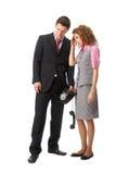 плохие пары получили весточки над телефоном Стоковые Изображения