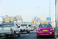 Плохое движение на шоссе Бангкока стоковое фото rf