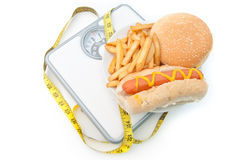 плохой весить маштабов диетпитания Стоковое Изображение