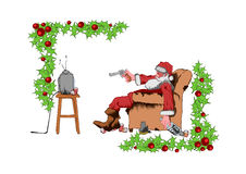 плохой santa Стоковая Фотография