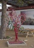 Площадь настенной росписи, искусства район епископа, Даллас, Техас стоковые фото