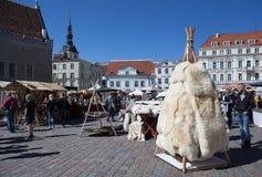 Площадь ратуши в Таллине Стоковое Фото