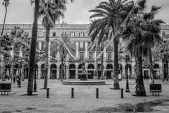 Площадь реальная, Barcellona Стоковое Изображение