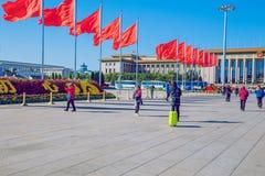 Площадь Тиананмен, Китай, осень 2016 Фото перемещения стоковые фото