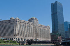 площадь товара chicago здания стоковое фото rf