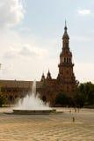 площадь фонтана espana Стоковое Изображение