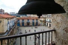 Площадь de Ла Catedral увиденное от колокольни Стоковая Фотография RF