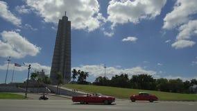 Площадь de Ла Revolucin - квадрат революции - квадрат в Гаване, Кубе - символе comunism в Кубе видеоматериал