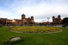 Площадь de Armas, Cusco, Перу Стоковое Фото