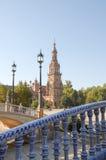 Площадь de España Севилья Стоковые Фото