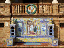 площадь de espana известная Стоковая Фотография