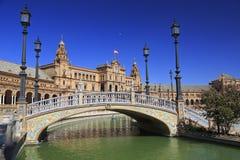Площадь de Espana или квадрат Испании в Севилье, Андалусии Стоковое Фото