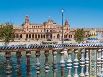Площадь de Espana (квадрат Испании) в Севил Стоковые Фото
