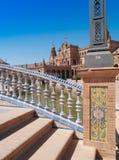 Площадь de Espana (квадрат Испании) в Севил Стоковые Изображения RF