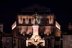 Площадь de Oriente и опера стоковые изображения rf