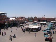 площадь djemaa Стоковое Изображение