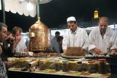 площадь marrakech fnaa el djem стоковые изображения rf