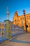 площадь sevilla de espana Стоковое Изображение