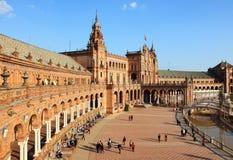 площадь sevilla de espana стоковое изображение rf