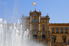 площадь seville Испания de espana Стоковое Изображение