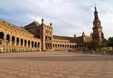 площадь seville de espana Стоковое Изображение