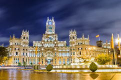 Площадь de Cibeles, Мадрид, Испания Стоковое Изображение