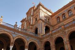 площадь seville de espana Стоковое Фото