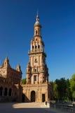 площадь seville de espana Стоковая Фотография