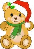 Плюшевый медвежонок рождества Стоковое Изображение RF
