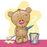 Плюшевый медвежонок художника иллюстрация штока