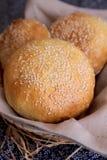Плюшки бургера Стоковая Фотография