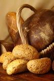 Плюшки с семенами и хлебом сезама Стоковое Изображение RF