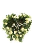 плющ сердца сделал розы кец wedding Стоковые Фотографии RF