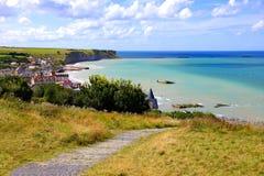Пляжи дня Д на Нормандии, Франции Стоковые Изображения
